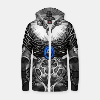 Thumbnail image of MechTron One Graphic Design Abstract Art Zip up hoodie, Live Heroes