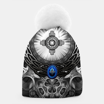Thumbnail image of MechTron One Graphic Design Abstract Art Beanie, Live Heroes