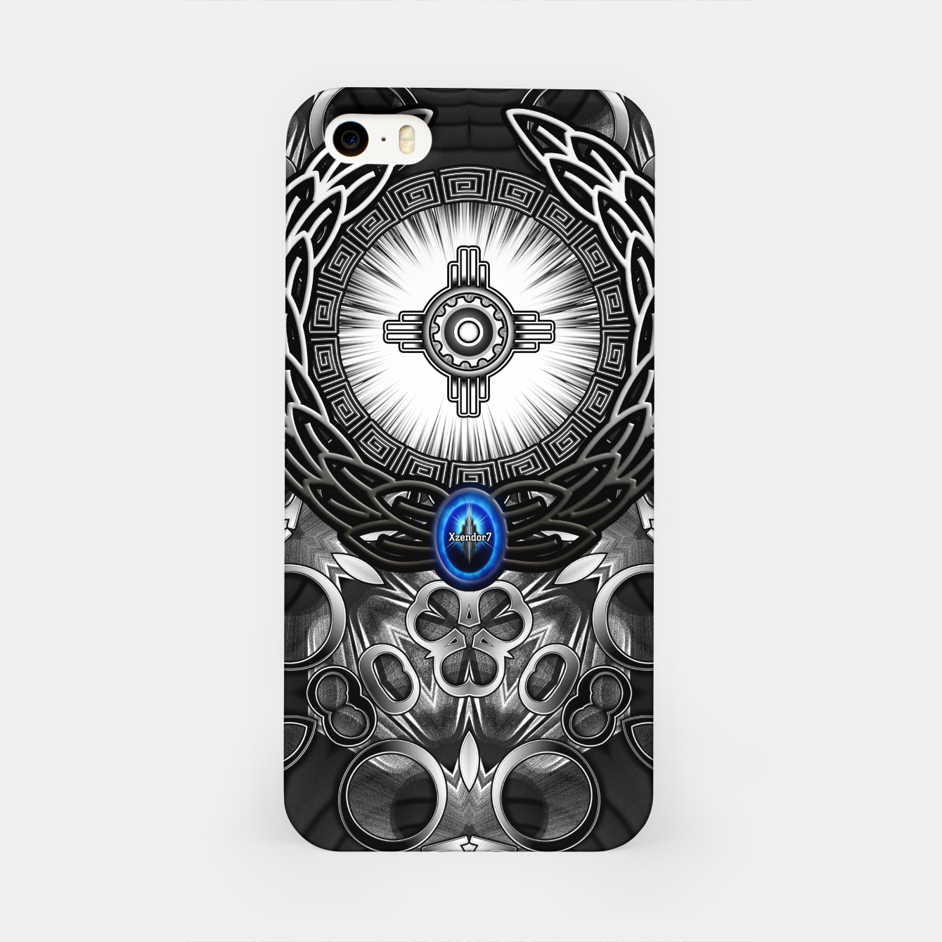 Image of MechTron One Graphic Design Abstract Art iPhone Case - Live Heroes