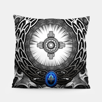 MechTron One Graphic Design Abstract Art Pillow thumbnail image