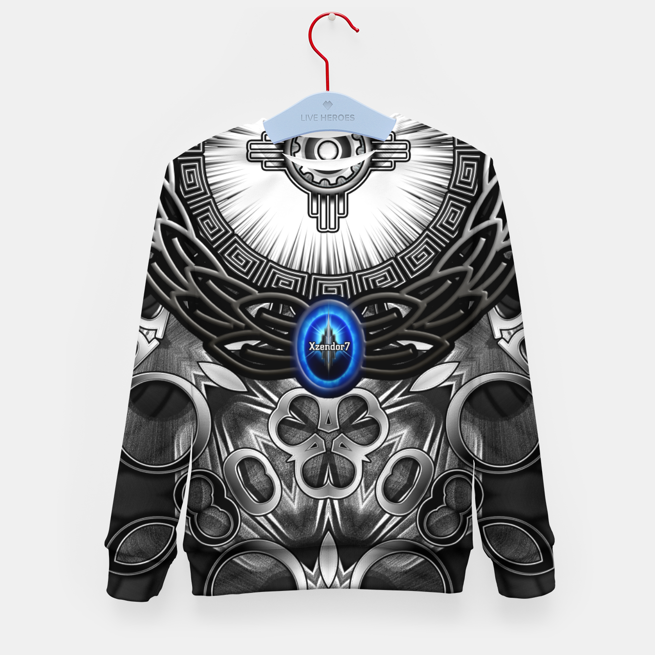 Image of MechTron One Graphic Design Abstract Art Kid's sweater - Live Heroes