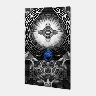 MechTron One Graphic Design Abstract Art Canvas thumbnail image