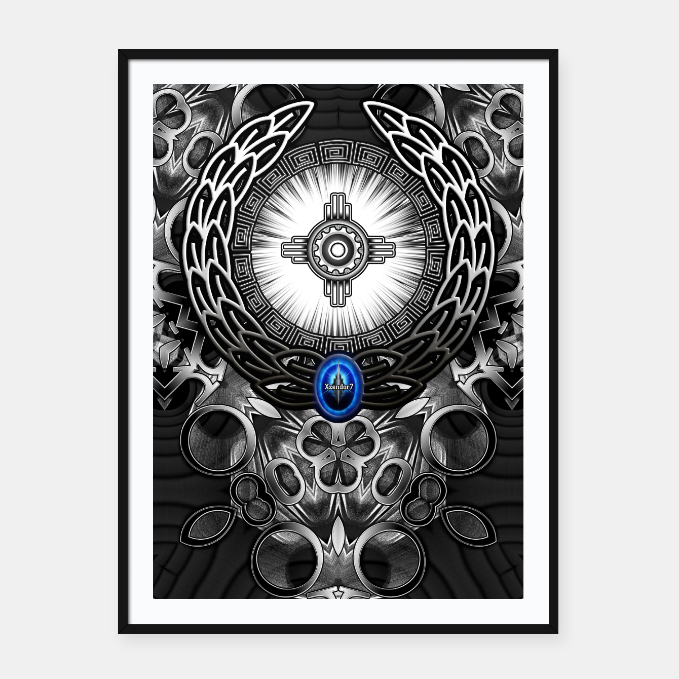 Image of MechTron One Graphic Design Abstract Art Framed poster - Live Heroes