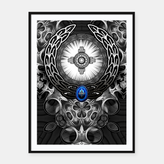 Thumbnail image of MechTron One Graphic Design Abstract Art Framed poster, Live Heroes