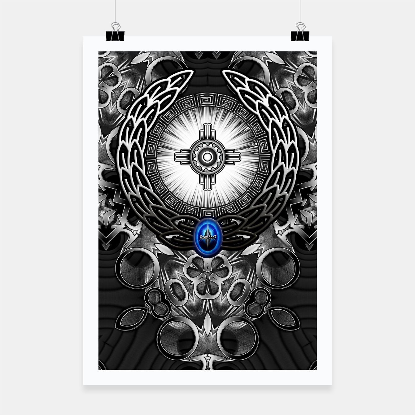 Image of MechTron One Graphic Design Abstract Art Poster - Live Heroes