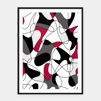 Imagen en miniatura de Abstract pattern - purple, gray, black and white. Framed poster, Live Heroes
