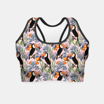 Thumbnail image of Tucan Garden Crop Top, Live Heroes