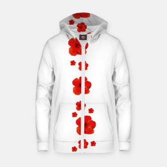 Miniatur Minimal Floral Print Decor Design Zip up hoodie, Live Heroes