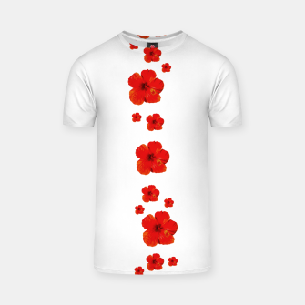 Thumbnail image of Minimal Floral Print Decor Design T-shirt, Live Heroes