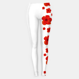 Thumbnail image of Minimal Floral Print Decor Design Leggings, Live Heroes