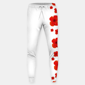 Thumbnail image of Minimal Floral Print Decor Design Sweatpants, Live Heroes