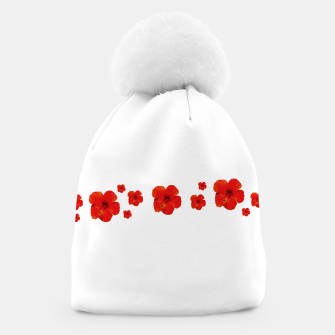 Thumbnail image of Minimal Floral Print Decor Design Beanie, Live Heroes