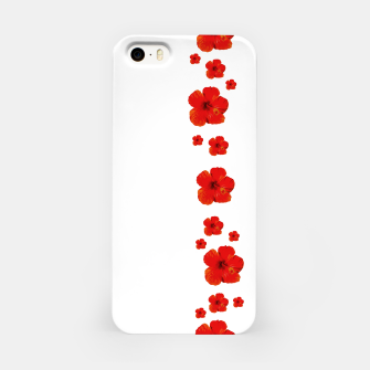 Miniatur Minimal Floral Print Decor Design iPhone Case, Live Heroes