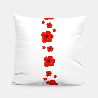 Miniatur Minimal Floral Print Decor Design Pillow, Live Heroes