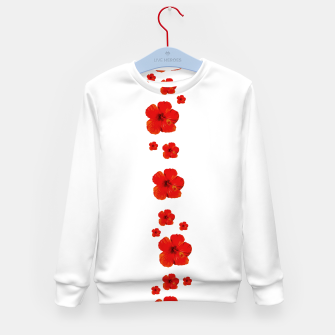 Miniatur Minimal Floral Print Decor Design Kid's sweater, Live Heroes
