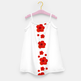 Miniatur Minimal Floral Print Decor Design Girl's dress, Live Heroes