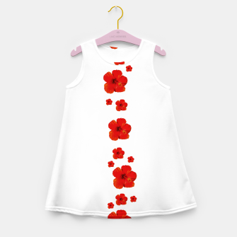 Miniatur Minimal Floral Print Decor Design Girl's summer dress, Live Heroes