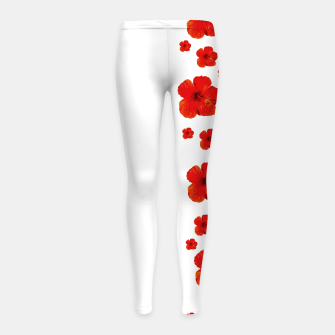 Miniatur Minimal Floral Print Decor Design Girl's leggings, Live Heroes