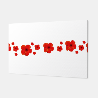 Thumbnail image of Minimal Floral Print Decor Design Canvas, Live Heroes