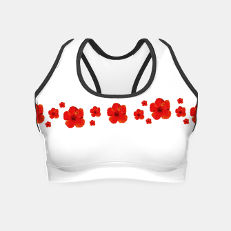 Miniatur Minimal Floral Print Decor Design Crop Top, Live Heroes