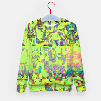 Thumbnail image of Neon green Kid's sweater, Live Heroes