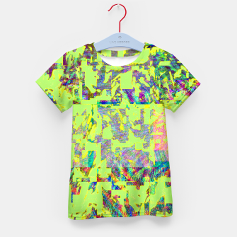 Thumbnail image of Neon green Kid's t-shirt, Live Heroes