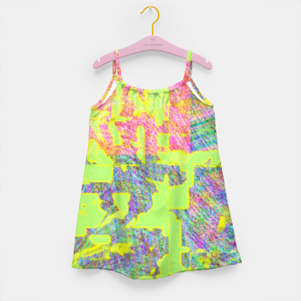 Miniatur Neon green Girl's dress, Live Heroes