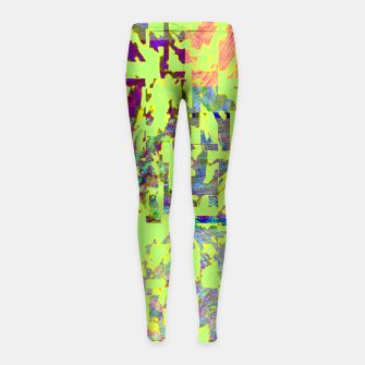 Miniatur Neon green Girl's leggings, Live Heroes