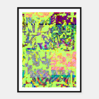 Thumbnail image of Neon green Framed poster, Live Heroes