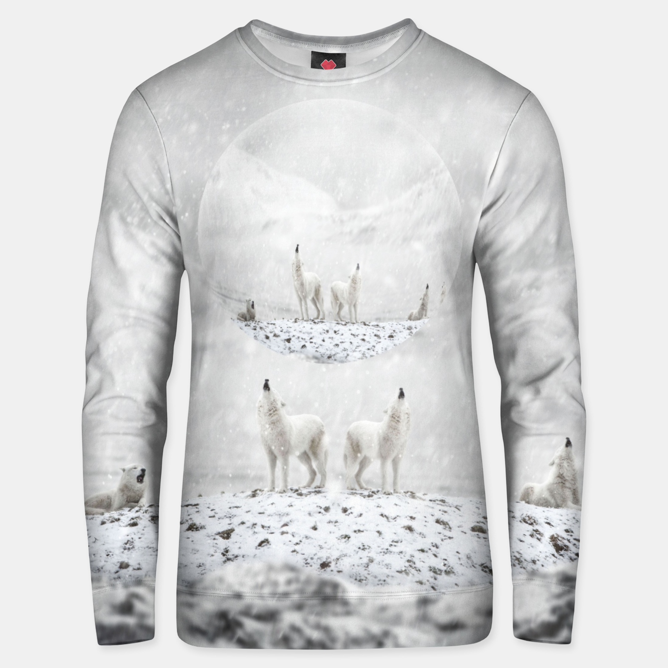Image of Howling Wolves in a Winter landscape Unisex sweatshirt - Live Heroes