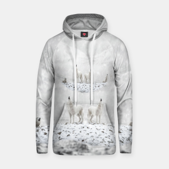 Miniatur Howling Wolves in a Winter landscape Kapuzenpullover, Live Heroes