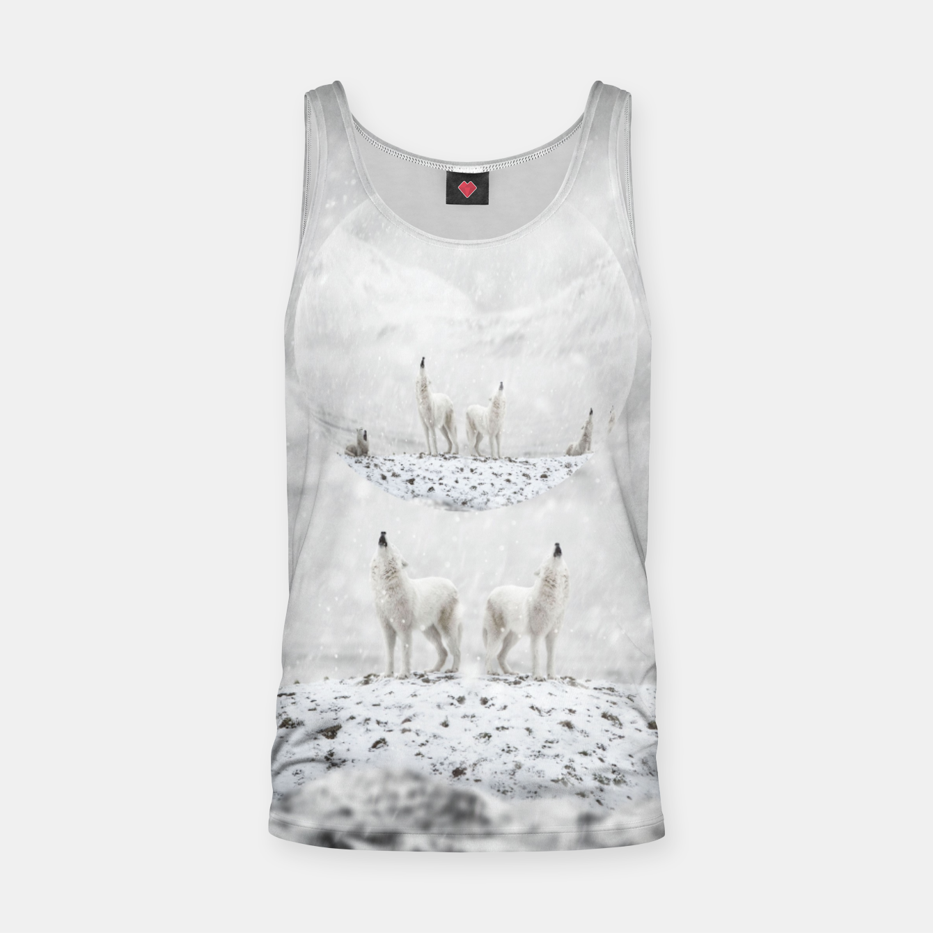 Image of Howling Wolves in a Winter landscape Muskelshirt  - Live Heroes