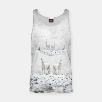 Miniatur Howling Wolves in a Winter landscape Muskelshirt , Live Heroes
