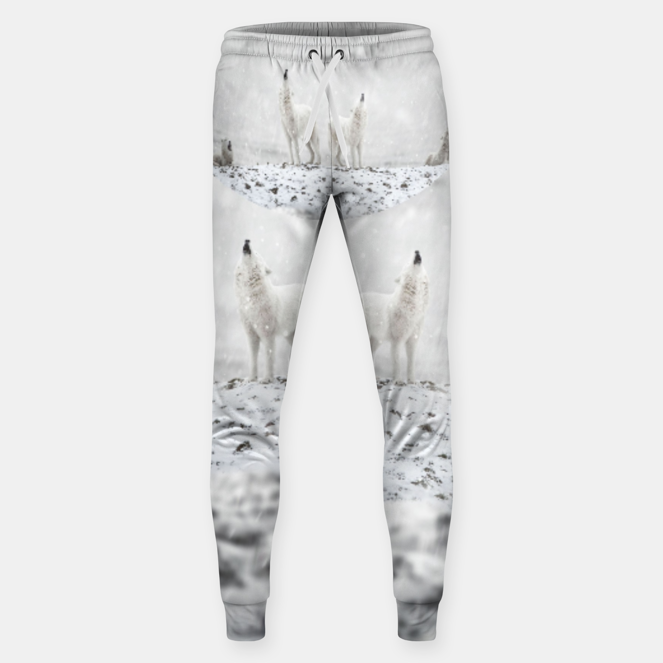 Image of Howling Wolves in a Winter landscape Hosen - Live Heroes