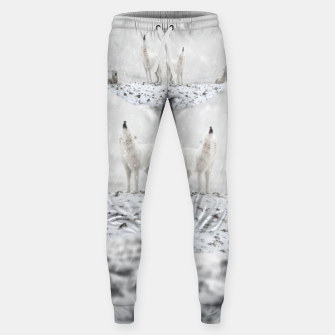 Howling Wolves in a Winter landscape Hosen thumbnail image