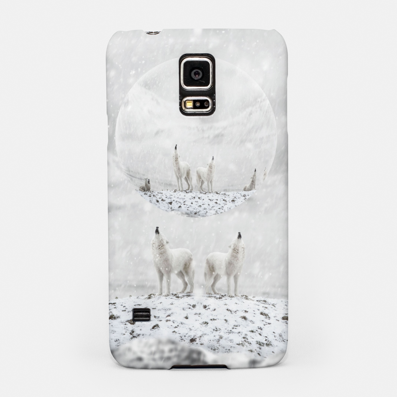 Image of Howling Wolves in a Winter landscape Handyhülle für Samsung - Live Heroes
