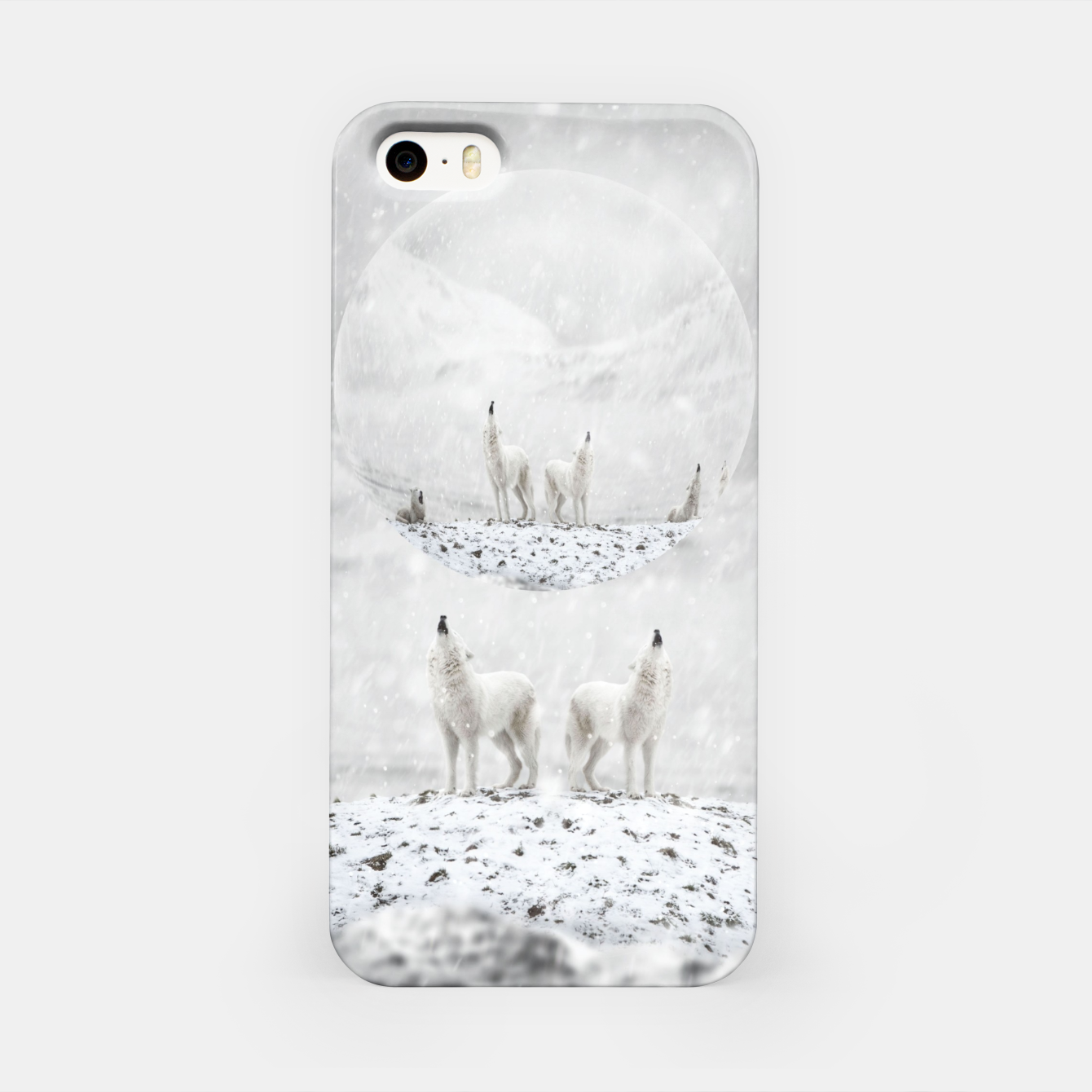 Image of Howling Wolves in a Winter landscape iPhone-Hülle - Live Heroes
