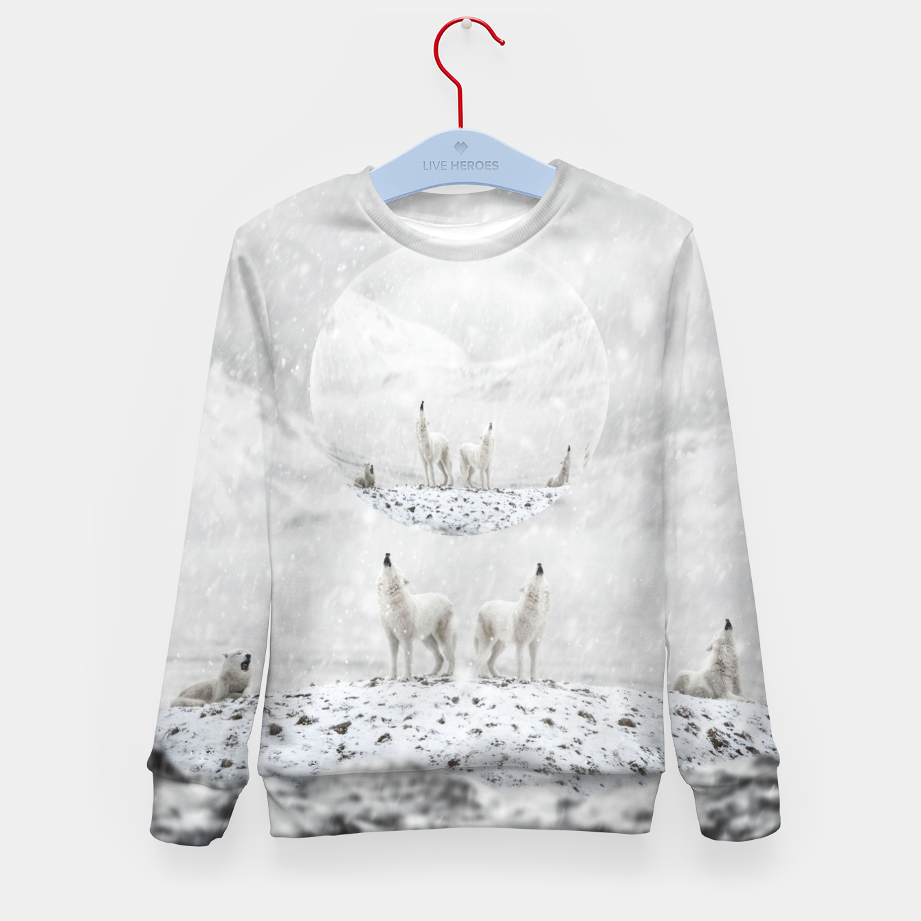 Image of Howling Wolves in a Winter landscape Kindersweatshirt - Live Heroes
