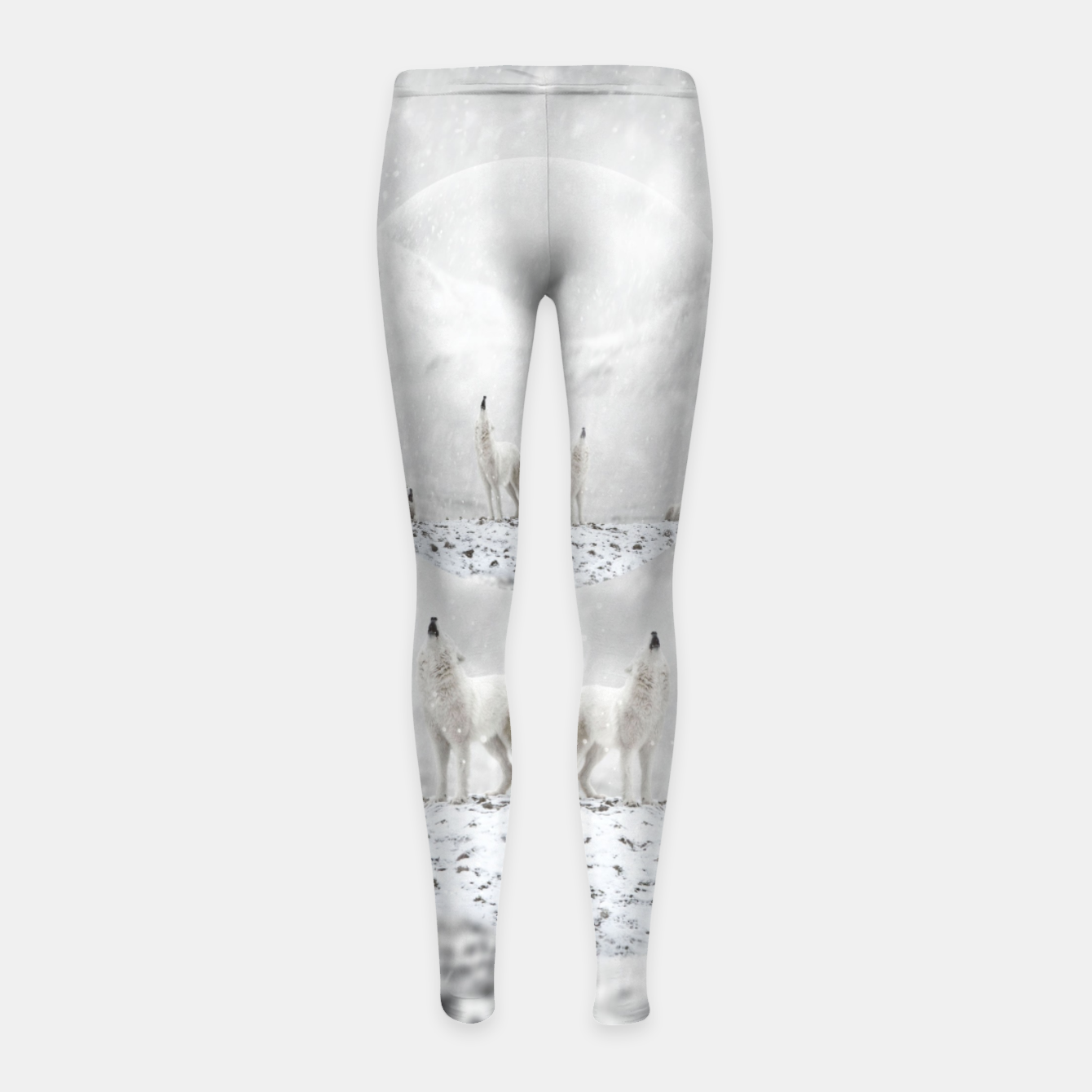 Image of Howling Wolves in a Winter landscape Kinder-Leggins - Live Heroes