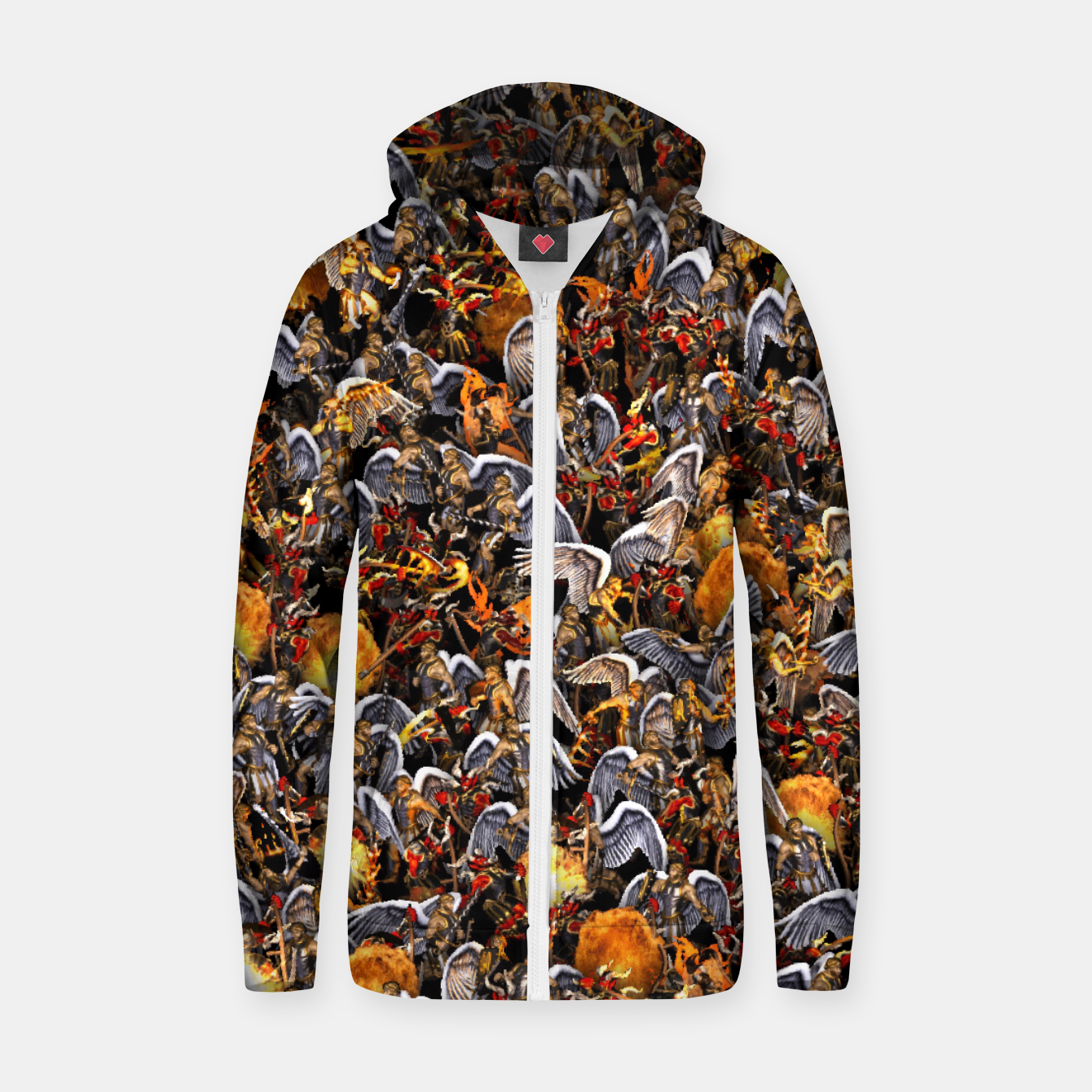 Image of Angels and Demons Zip up hoodie - Live Heroes