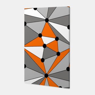 Imagen en miniatura de Abstract geometric pattern - orange, gray and white. Canvas, Live Heroes