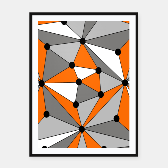 Imagen en miniatura de Abstract geometric pattern - orange, gray and white. Framed poster, Live Heroes
