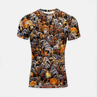 Thumbnail image of Angels and Demons Shortsleeve rashguard, Live Heroes
