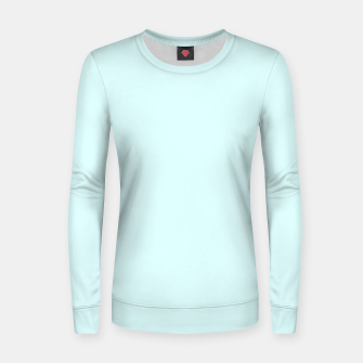 Thumbnail image of color light cyan Women sweater, Live Heroes