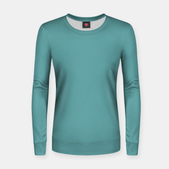 Thumbnail image of color cadet blue Women sweater, Live Heroes