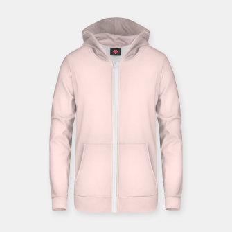 Thumbnail image of color misty rose Zip up hoodie, Live Heroes