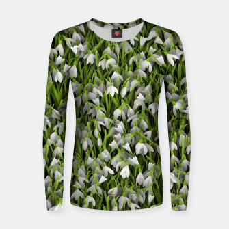 Thumbnail image of Snowdrops Women sweater, Live Heroes