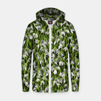 Thumbnail image of Snowdrops Zip up hoodie, Live Heroes