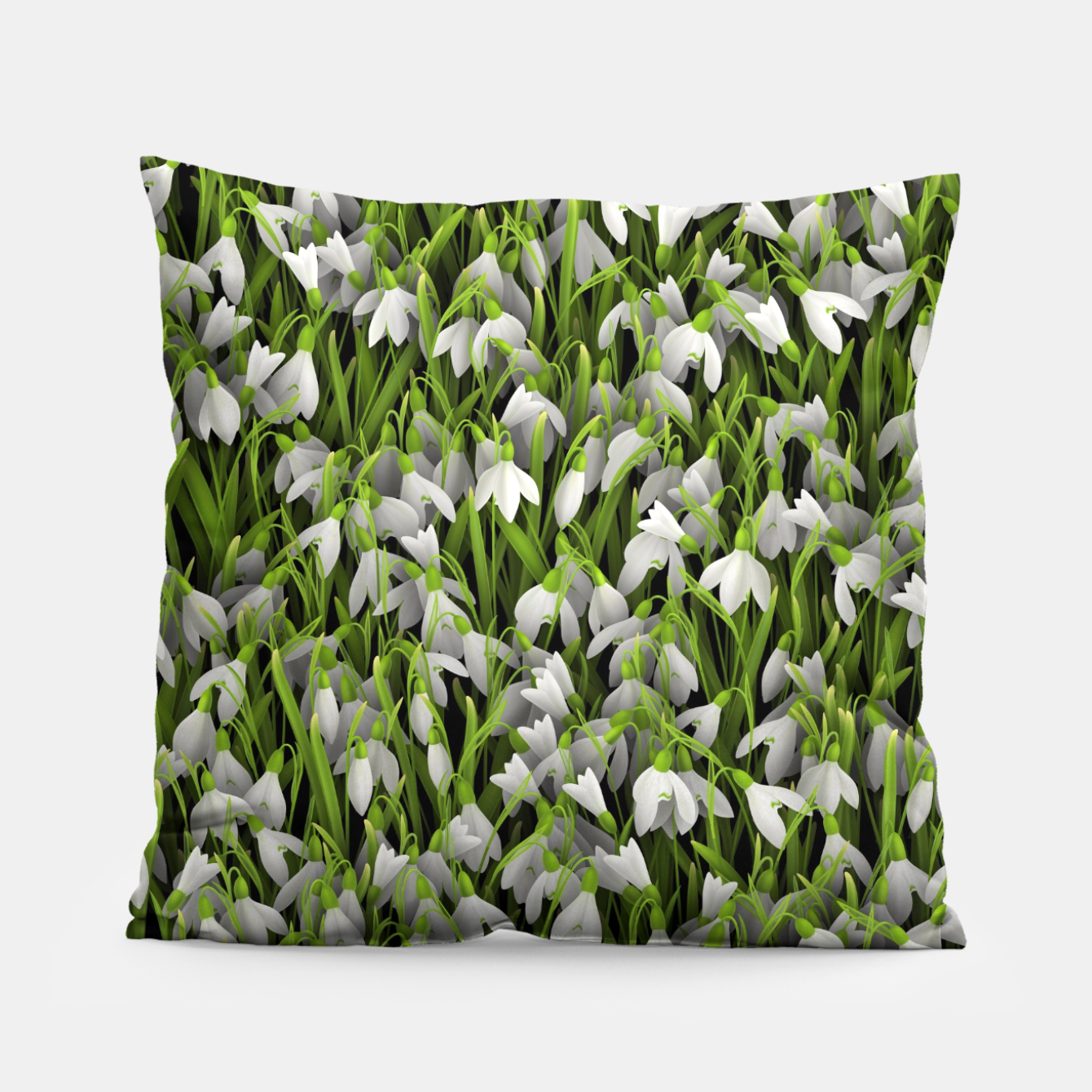 Image of Snowdrops Pillow - Live Heroes