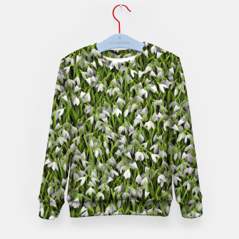 Thumbnail image of Snowdrops Kid's sweater, Live Heroes